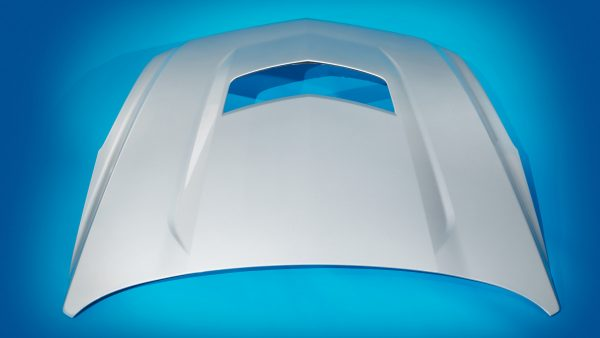 Class A Compression-Molded Carbon Composite Hood
