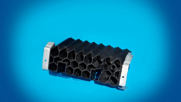 Plastic honeycomb floor rocker reinforcement